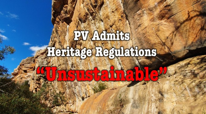 "Parks Victoria Admits Heritage Regulations ""Unsustainable"""