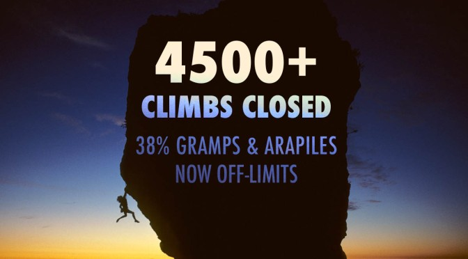 4500+ Climbs Closed – 38% Gramps and Arapiles Now off-Limits