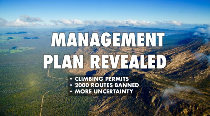 New Management Plan Revealed – Only 22% of routes open to climbing, Permits required, Bouldering decimated