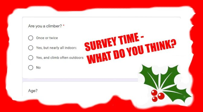 Climber's survey – Have your say